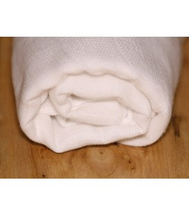 Mussolina blanca estiu ample 130 cm (MUSB)